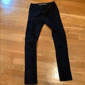 So Nikki black ripped jeans size 12